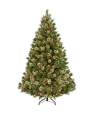 National Tree Company 7.5' Wispy Willow Grande 750-Light Medium Hinged Tree