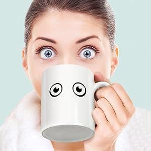 GoGifts Heat Sensitive Color Changing Magic Wake up Mug / Creative Coffee Mug / Beverage Mug (Black)