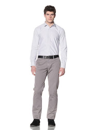 SPURR Men's Oxford Striped Shirt (White)