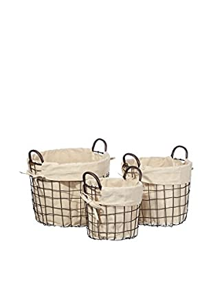Nordic Style Set Cesto De La Ropa 3 Uds. Laundry