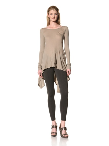 RICK OWENS Women's Flaired Tunic (Flesh)