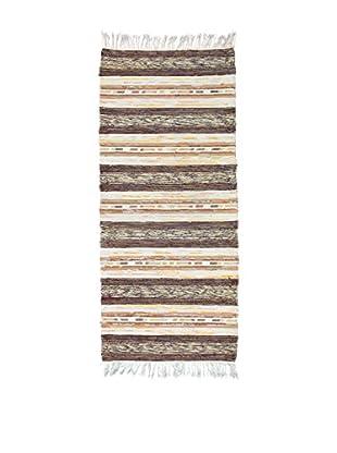 Handmade Rag Rug, Multi, 2' 4