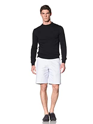 Calvin Klein Collection Men's Baren Crew Neck Wool Sweater (Navy)