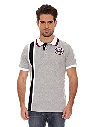 Geographical Norway Polo Manga Corta Kadford Ss Men 402 (Gris/Marino)