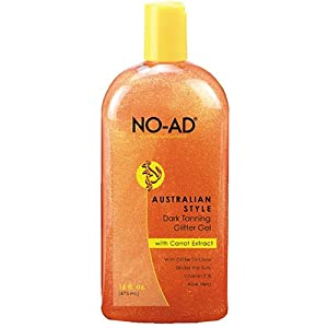 NO-AD Australian Glitter Tanning Gel, 16 Ounces