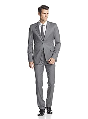 Calvin Klein Collection Men's Bowery Two Button Suit (Gotham Grey)
