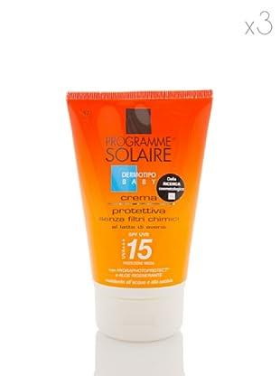 Programme Solaire Set 3 Pezzi Crema Protettiva Bambini Spf 15 125 ml cad.