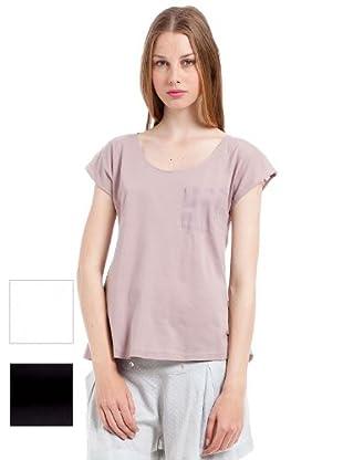 Woman Secret Camisetas 3 pack (blanco / negro / lila)