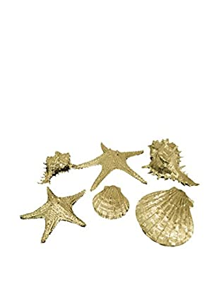 Three Hands Gold Resin Sea Shells