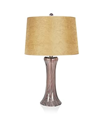 Viz Art Glass Tower Table Lamp (Brown)