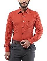 Allen Solly Men Slim Fit Shirt_AMSF515G02452_44_Orange
