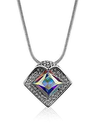 Absolute Crystals Set Kette und Anhänger Folded Square silberfarben/bunt