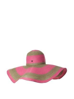 Florabella Women's Layla Toyo Stripe Hat (Hot Pink Multi)
