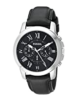 Fossil FS4812 Men's Chronograph Watch, Black