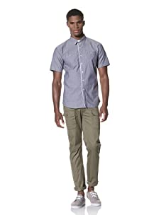 SLDVR Men's Cambridge Button-Front Shirt (Blue)