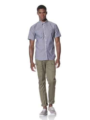 SLDVR Men's Cambridge Button-Front Shirt (Blue)