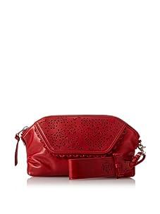 Nanette Lepore Women's Floral Cut Wristlet Clutch (Kiss Red)
