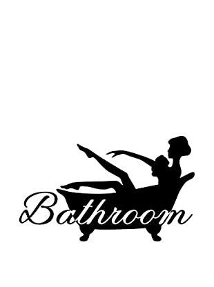 Ambiance Live Wandtattoo Lady taking her bath schwarz