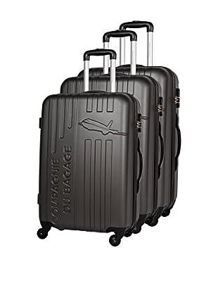 COMPAGNIE DU BAGAGE Set de 3 trolleys rígidos