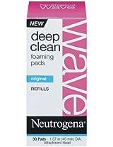 Neutrogena Wave Deep Clean Foaming Pad Refills, 30 Count