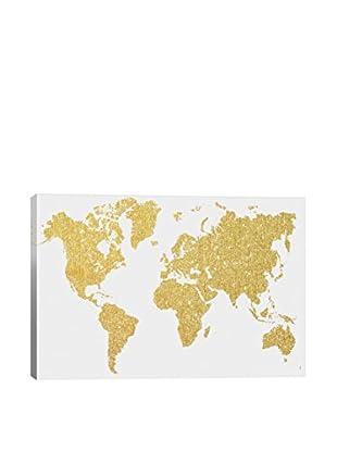 Natasha Westcoat Gold Map Canvas Print