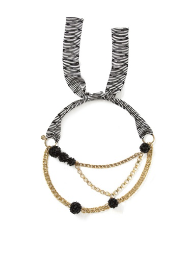 M Missoni Women's Chainlink Belt (Black/White)
