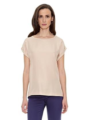 Cortefiel Camiseta Lisa (Tostado)