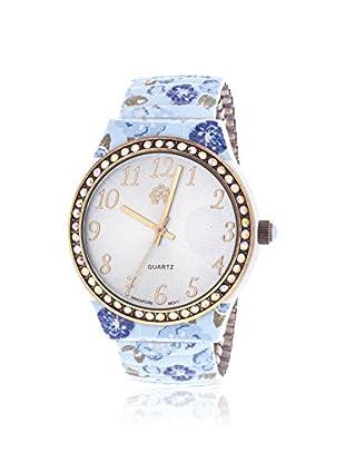 WALLFLOWER Women's WAF001M13-CAB Multi/Silver-Tone Rubber Watch