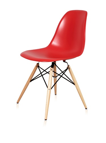 Mid-Century Eiffel Dining Chair (Red)