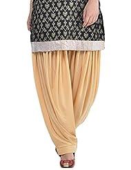 Sohniye Women's Viscose Patiala [GAKP10_Beige_Free Size]