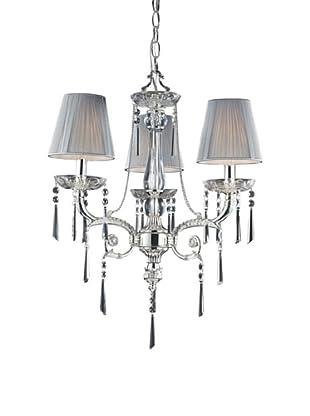 Artistic Lighting 3-Light Chandelier, Polished Silver