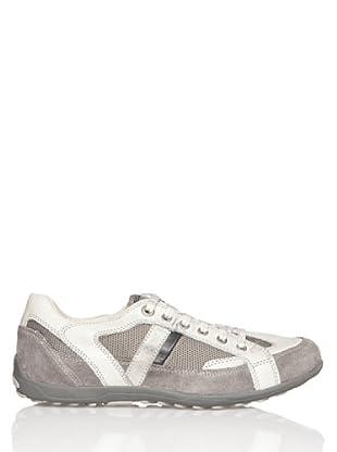 Geox Mito - Zapatillas para hombre (Blanco / Gris)
