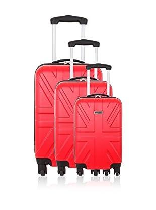 Travel ONE Set de 3 trolleys rígidos Coventry Rojo
