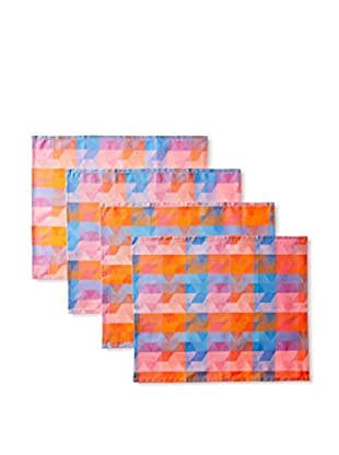 Garnier-Thiebaut Set of 4 Mille Cubes Coated Placemats, Dusk