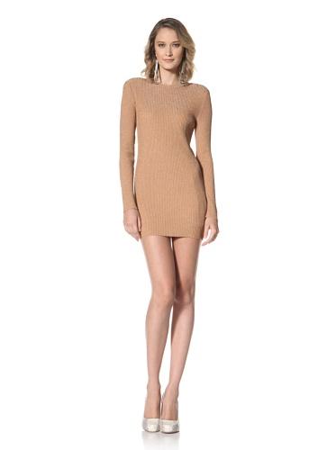 Paul & Joe Women's Wictoria Long Sleeve Sweater Dress (Gold)