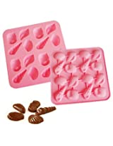 Silicone Bakeware Shell Chocolate & Ice cube Mold Random color