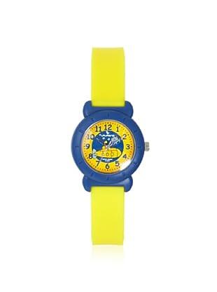 Laurens VP81J901Y Yellow/Blue Sporty Analog Watch