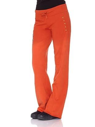 Ed Hardy Pantalones Flower Women Pants (Coral)