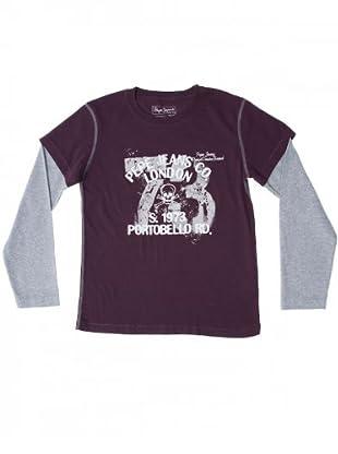 Pepe Jeans Kids Longsleeve Samuel (Bordeaux/Grau)