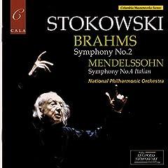 ストコフスキー指揮 メンデルスゾーン交響曲第4番&ブラームス交響曲第2番の商品写真