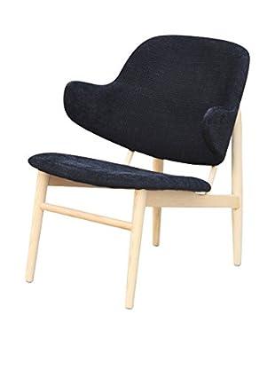 Manhattan Living Atel Lounge Chair, Black