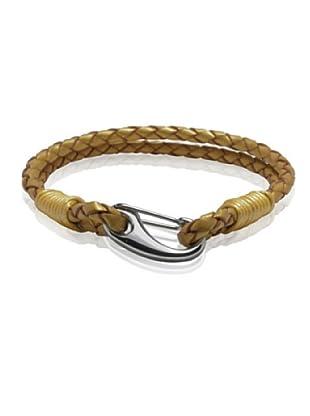 Van Maar Armband Echtleder, gold