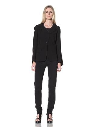 Ann Demeulemeester Women's Hooded Blazer (Black)