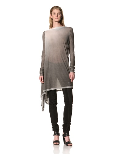 RICK OWENS Women's Long Sleeved Tunic (Black/White)