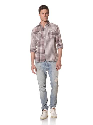 Artisan De Luxe Men's The Ollie Button-Front Shirt (Spring Plaid)