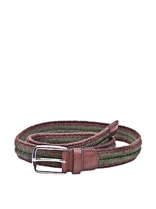 Cortefiel Cinturón Trenzado (Marrón Oscuro)