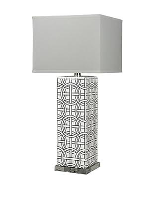 Artisitic Lighting Table Lamp, Gloss White, Royal Blue