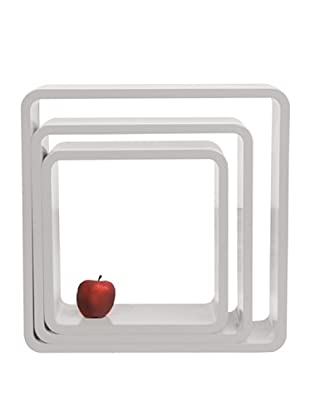 Kare Set de 3 Estanterias Lounge Cube Square