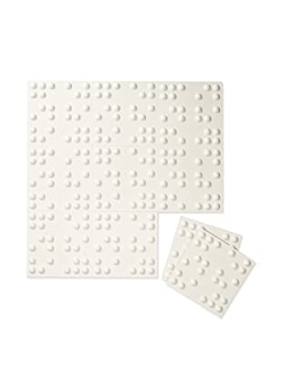 Inhabit Braille Wall Flats, Off-White