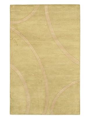 Handmade Impulse Rug, Beige/Light Green, 5' x 8'